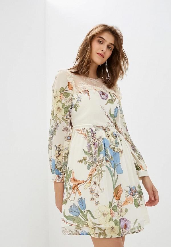 женское повседневные платье blugirl folies, бежевое