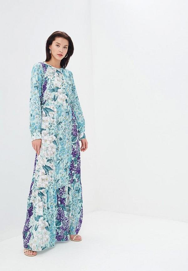 женское повседневные платье blugirl folies, разноцветное