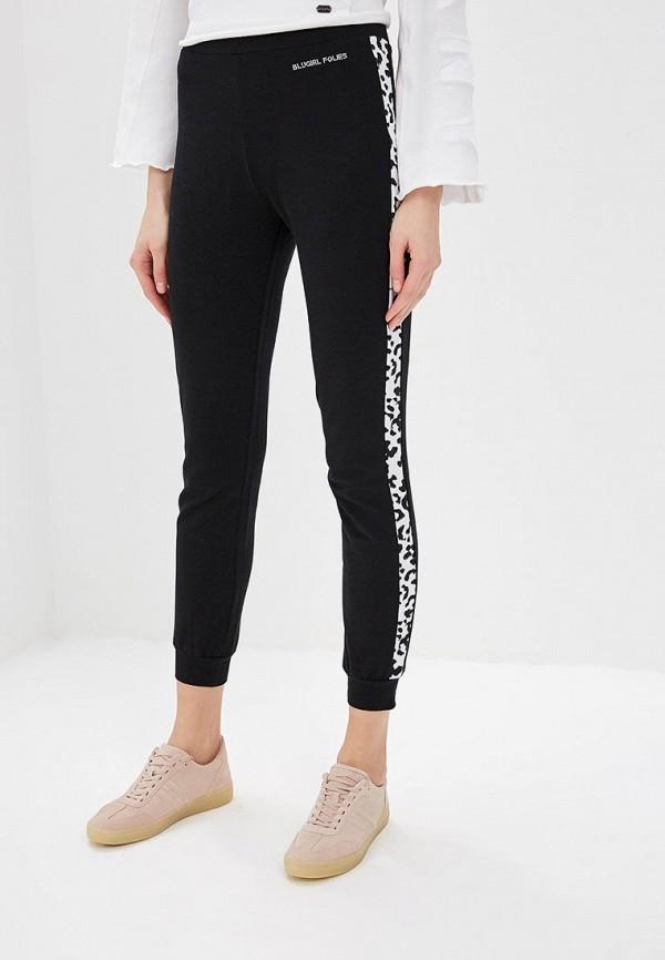 женские спортивные спортивные брюки blugirl folies, черные