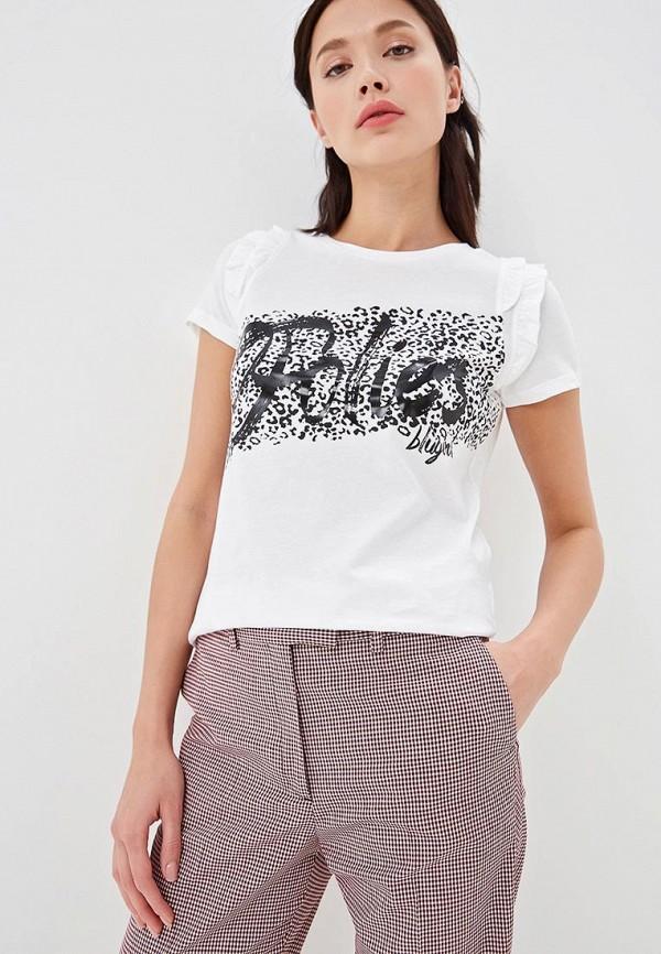 женская футболка blugirl folies, бежевая