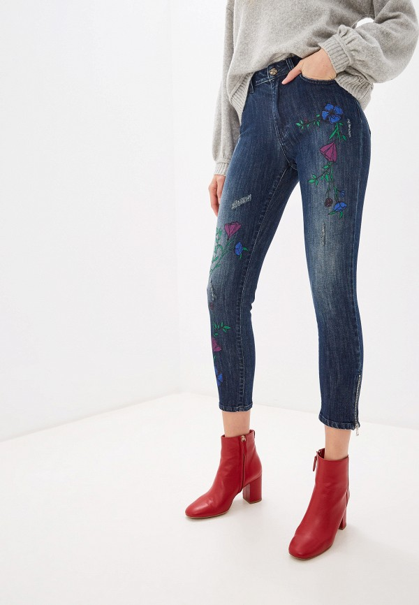 женские джинсы blugirl folies, синие