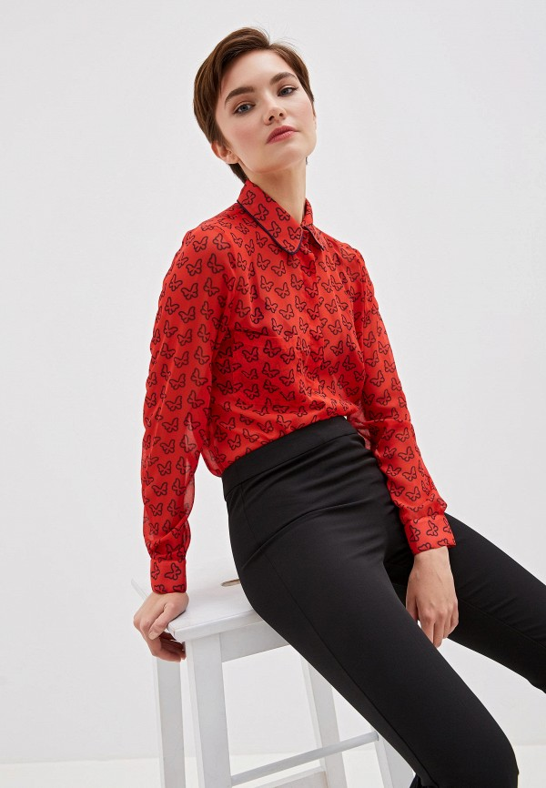 женская блузка blugirl folies, красная