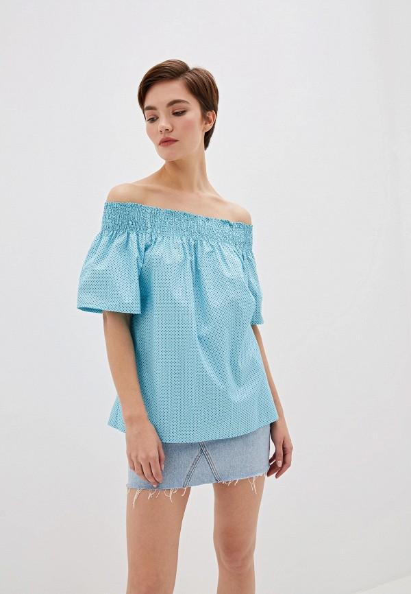 женская блузка blugirl folies, голубая