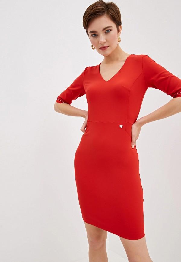 женское платье-футляр blugirl folies, красное