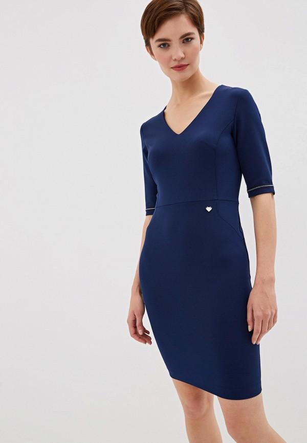 женское платье-футляр blugirl folies, синее