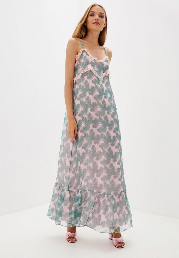 женское платье blugirl folies, разноцветное