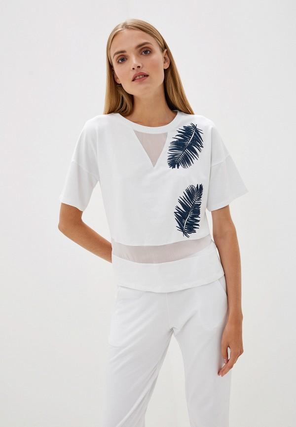 женская футболка blugirl folies, белая