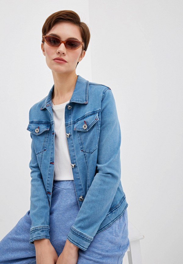 женская джинсовые куртка blugirl folies, синяя