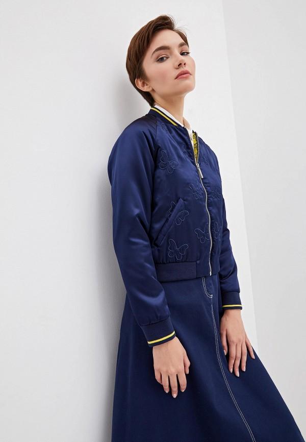 женская куртка blugirl folies, синяя