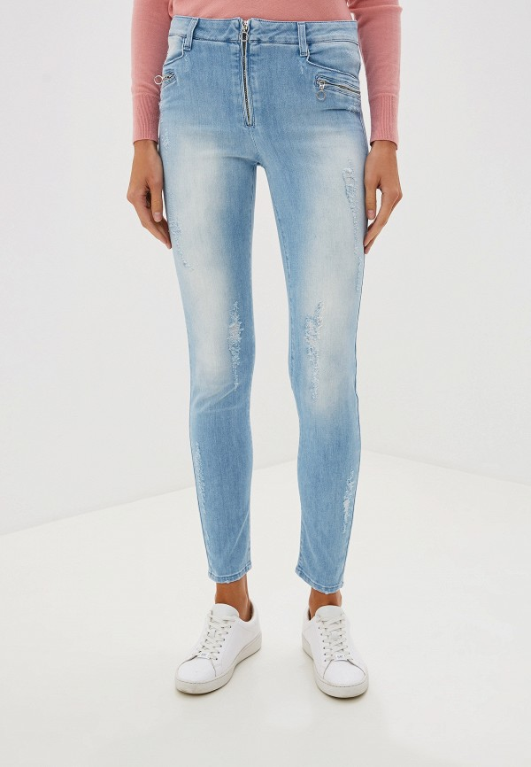 женские джинсы blugirl folies, голубые