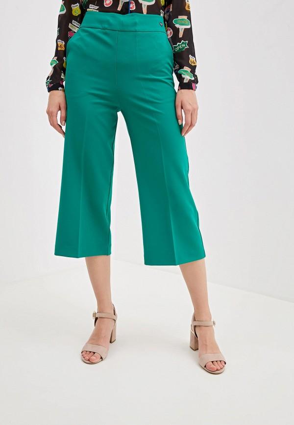 женские брюки blugirl folies, зеленые