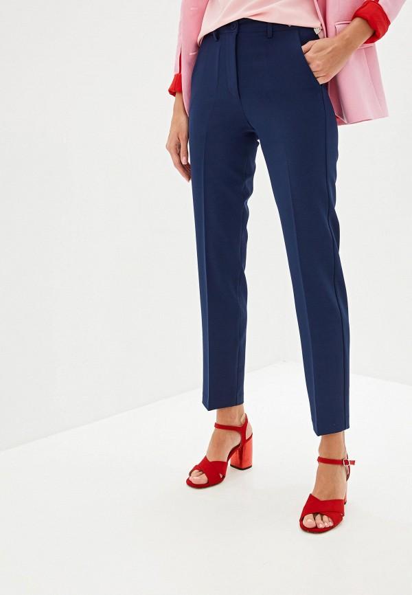 женские классические брюки blugirl folies, синие