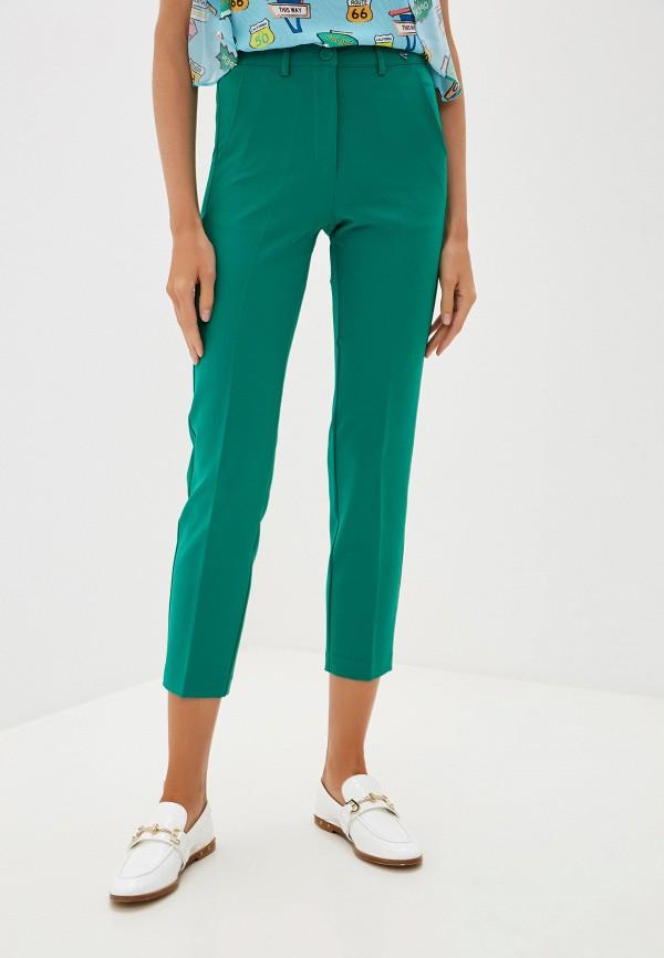 женские повседневные брюки blugirl folies, зеленые