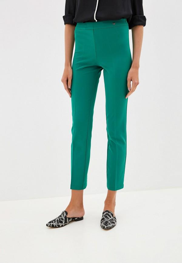 женские классические брюки blugirl folies, зеленые