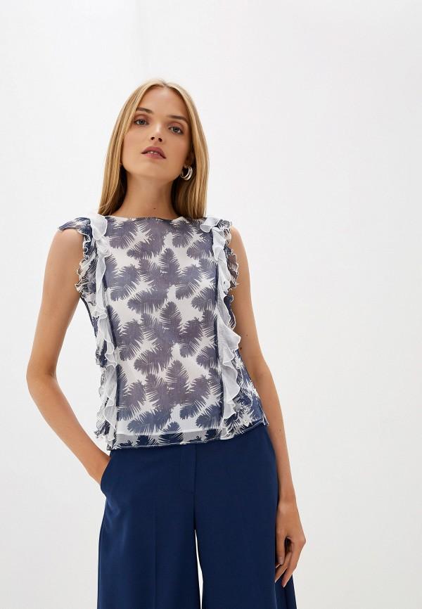 женская блузка blugirl folies, синяя