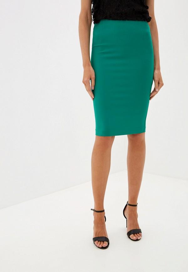 женская зауженные юбка blugirl folies, зеленая
