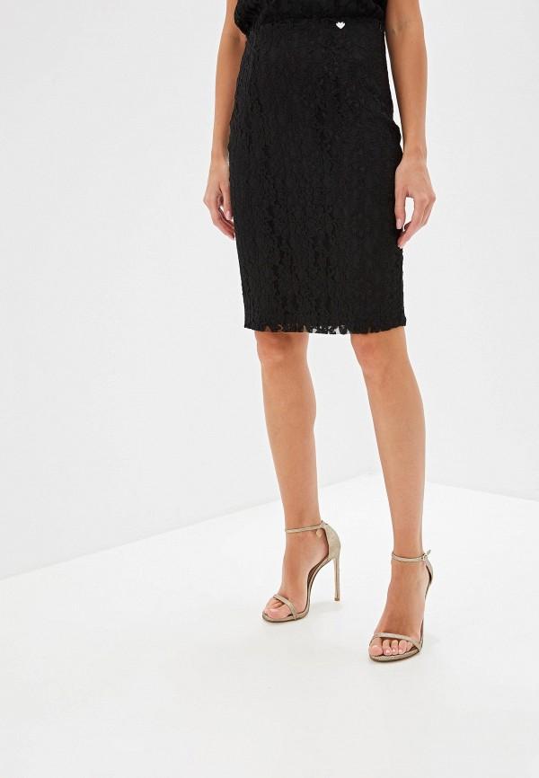 женская прямые юбка blugirl folies, черная