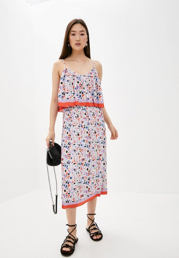 женское повседневные платье blugirl folies, фиолетовое