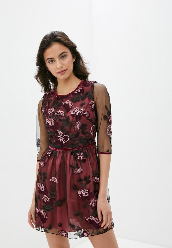 женское вечерние платье blugirl folies, бордовое