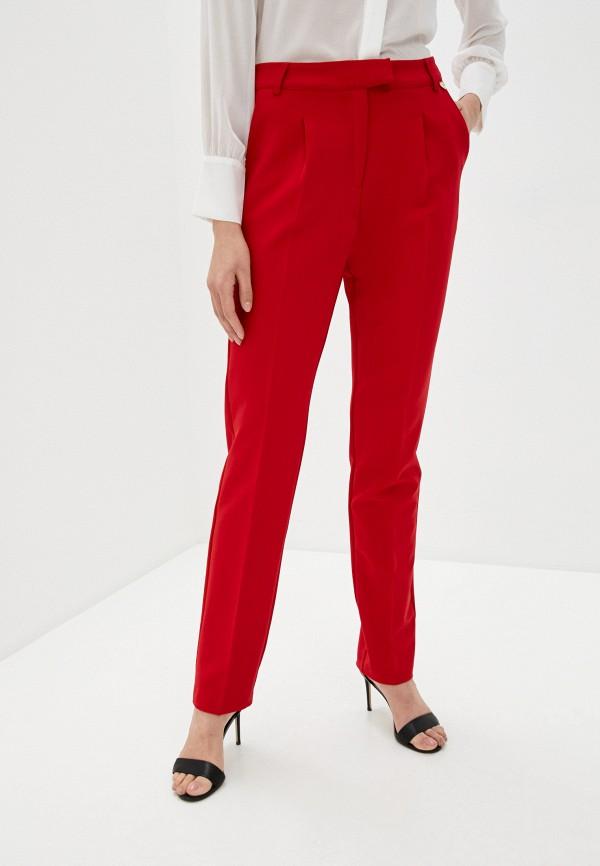 женские классические брюки blugirl folies, красные