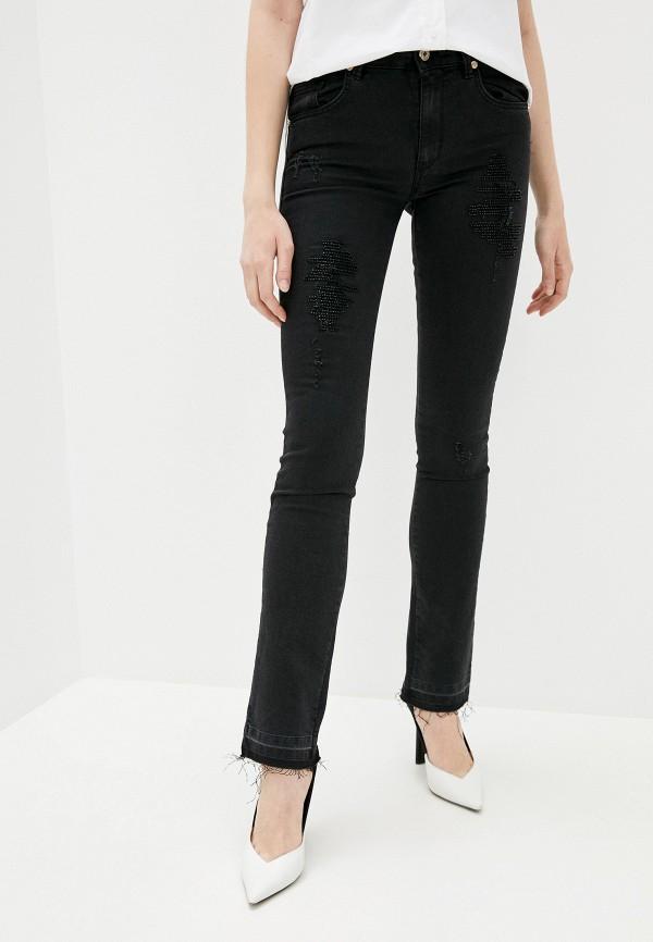 женские прямые джинсы blugirl folies, черные