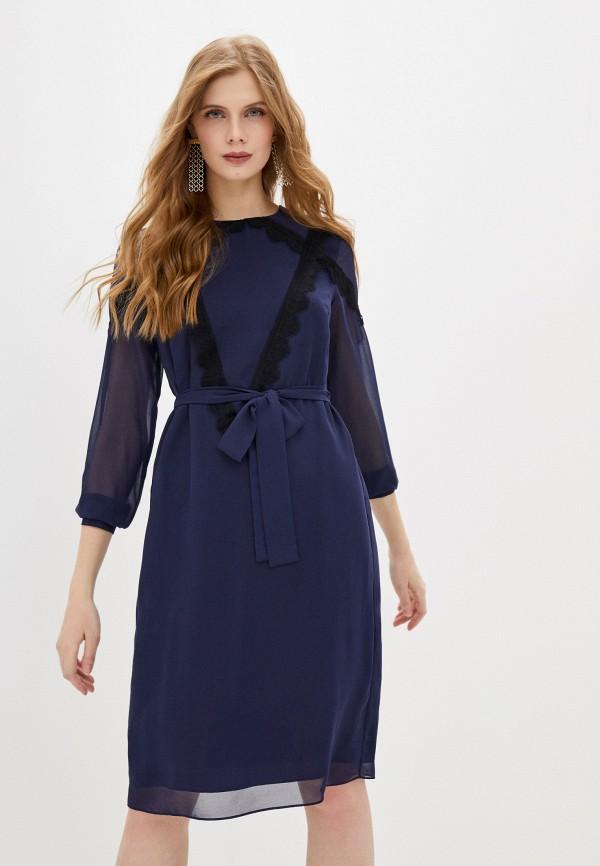 женское повседневные платье blugirl folies, синее