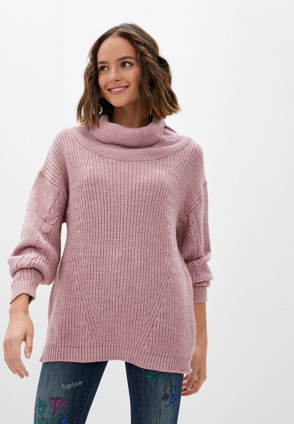 женский свитер blugirl folies, розовый