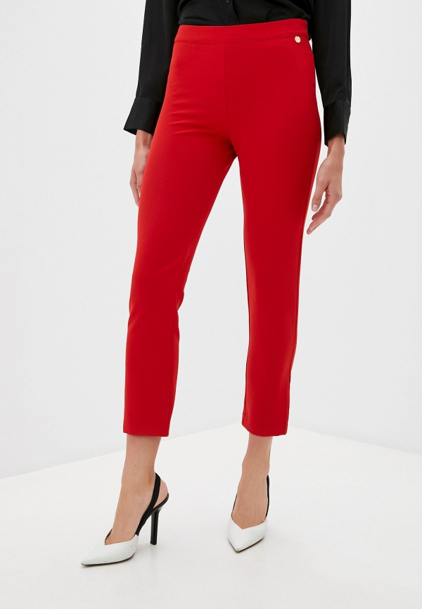 женские повседневные брюки blugirl folies, красные
