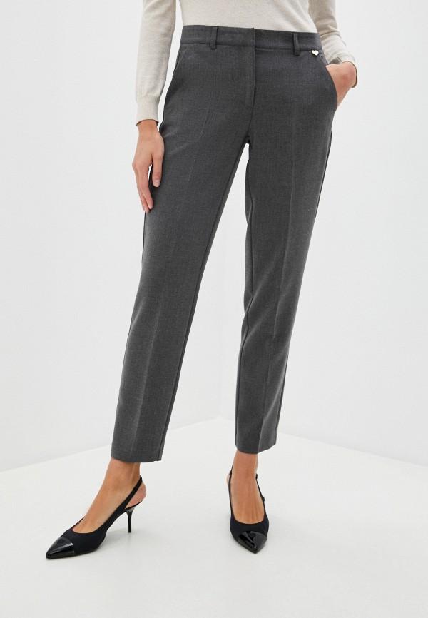 женские повседневные брюки blugirl folies, серые