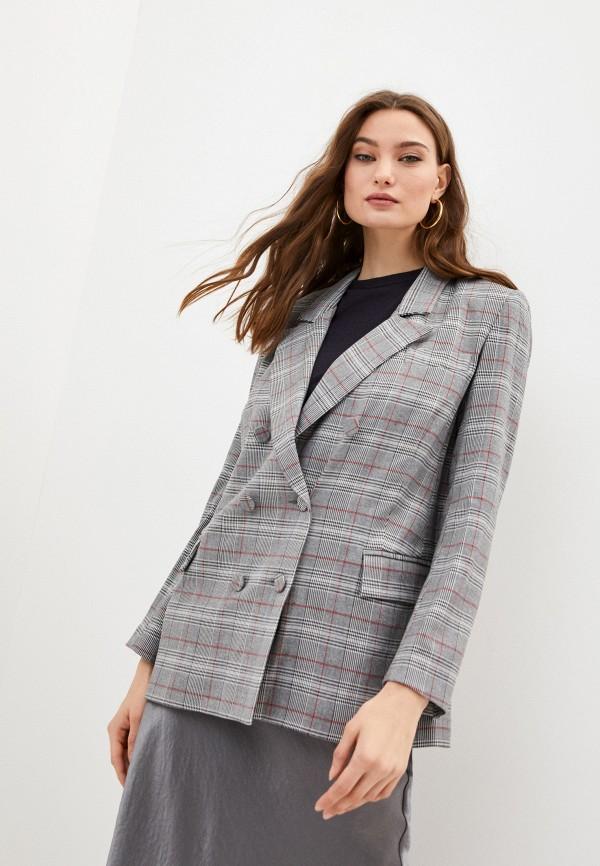 женский пиджак blugirl folies, серый