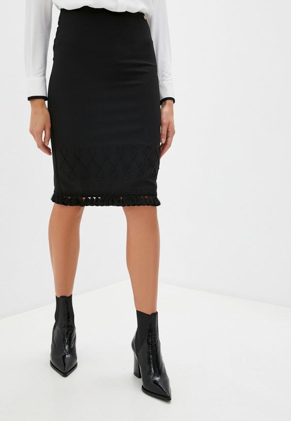 женская зауженные юбка blugirl folies, черная