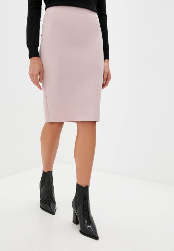 женская прямые юбка blugirl folies, розовая