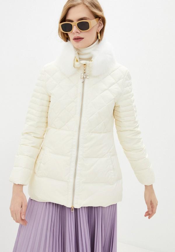 женская куртка blugirl folies, белая