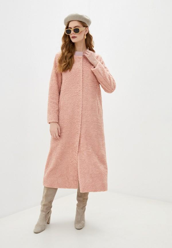 женское пальто blugirl folies, розовое