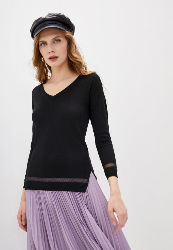 женский пуловер blugirl folies, черный