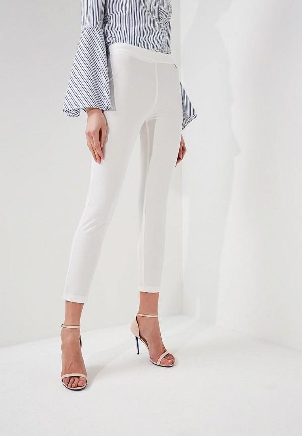 женские повседневные брюки blugirl folies, белые