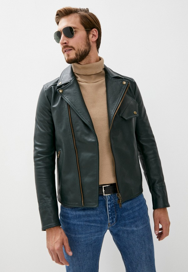 мужская куртка blouson, зеленая