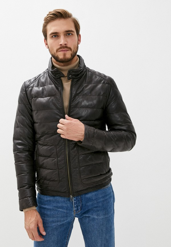 мужская куртка blouson, коричневая