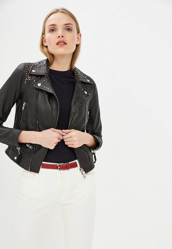 женская куртка blouson, черная