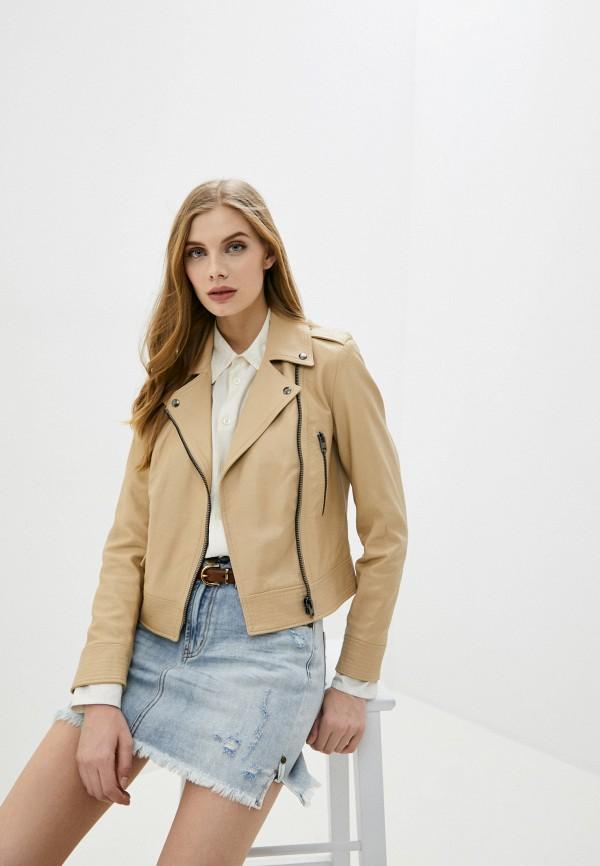 женская куртка blouson, бежевая