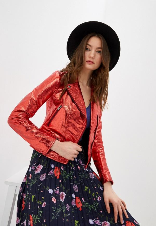 женская куртка blouson, красная