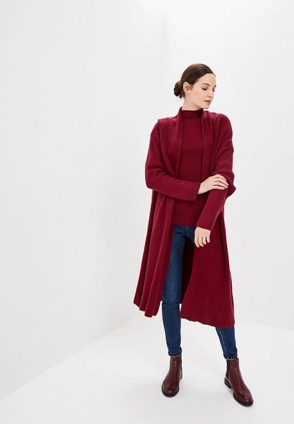 Купить Кардиган Bluoltre, BL037EWCMYY0, бордовый, Осень-зима 2018/2019