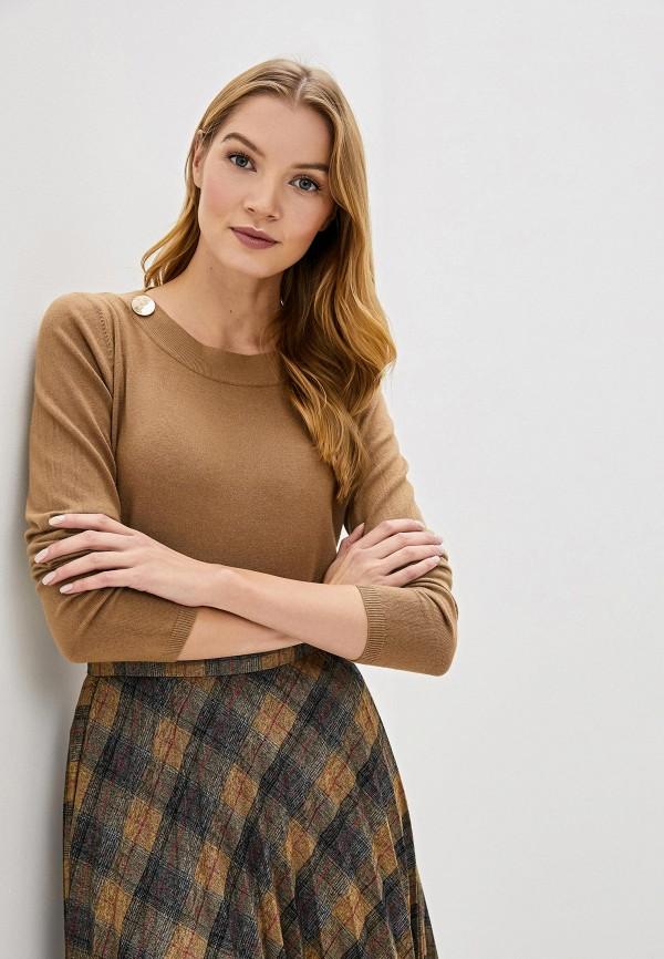 женский джемпер bluoltre, коричневый