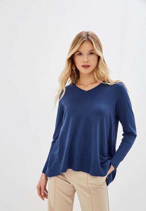 женский пуловер bluoltre, синий