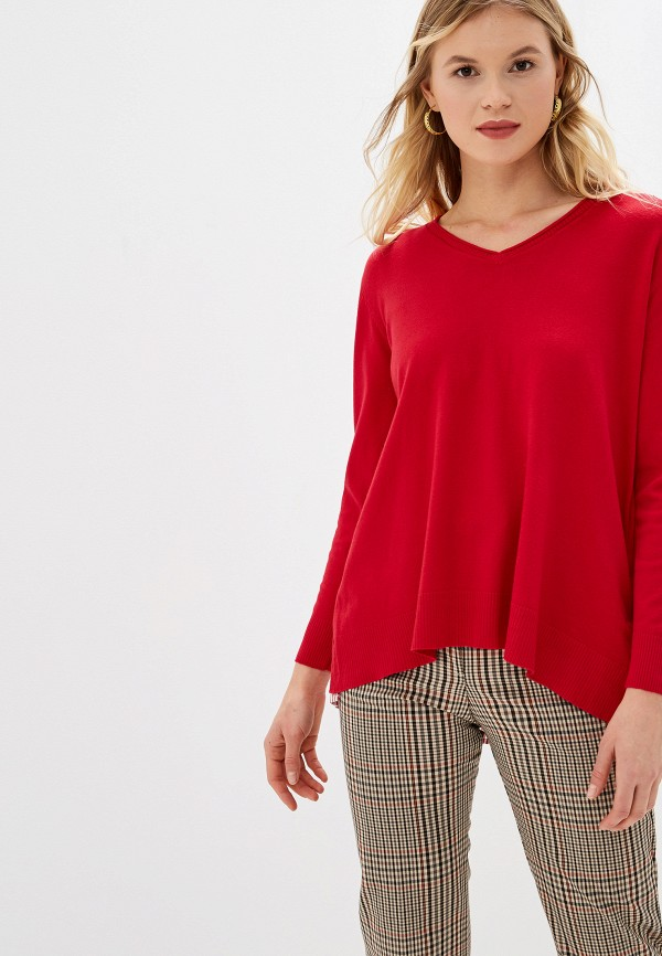 женский пуловер bluoltre, красный