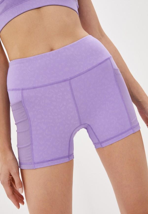 женские спортивные шорты black limba, фиолетовые