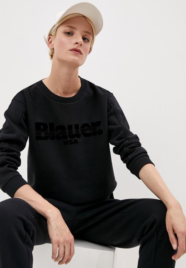 женский свитшот blauer usa, черный