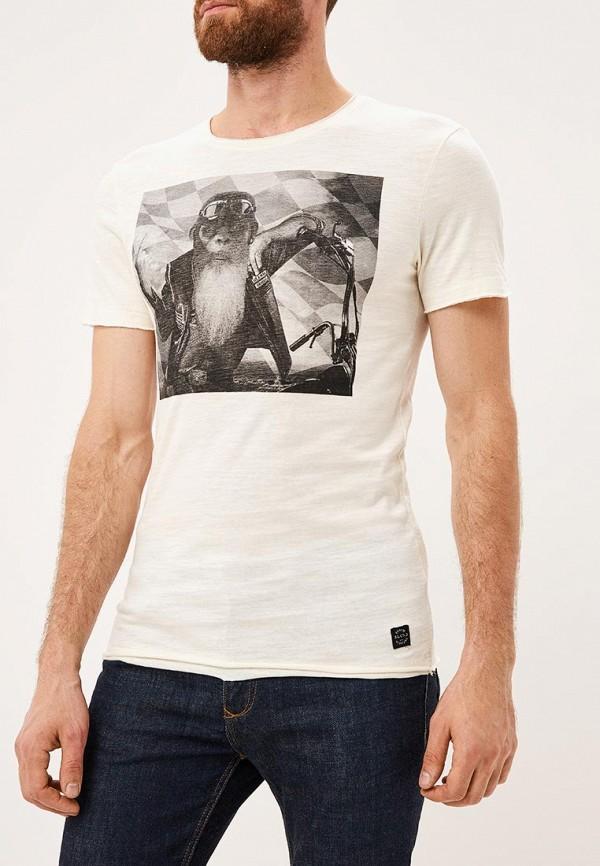 мужская футболка с коротким рукавом blend, бежевая