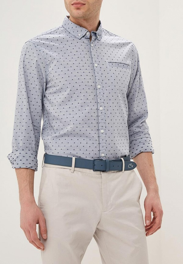 мужская рубашка с длинным рукавом blend, синяя