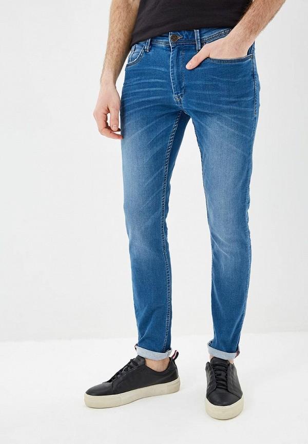 мужские зауженные джинсы blend, синие